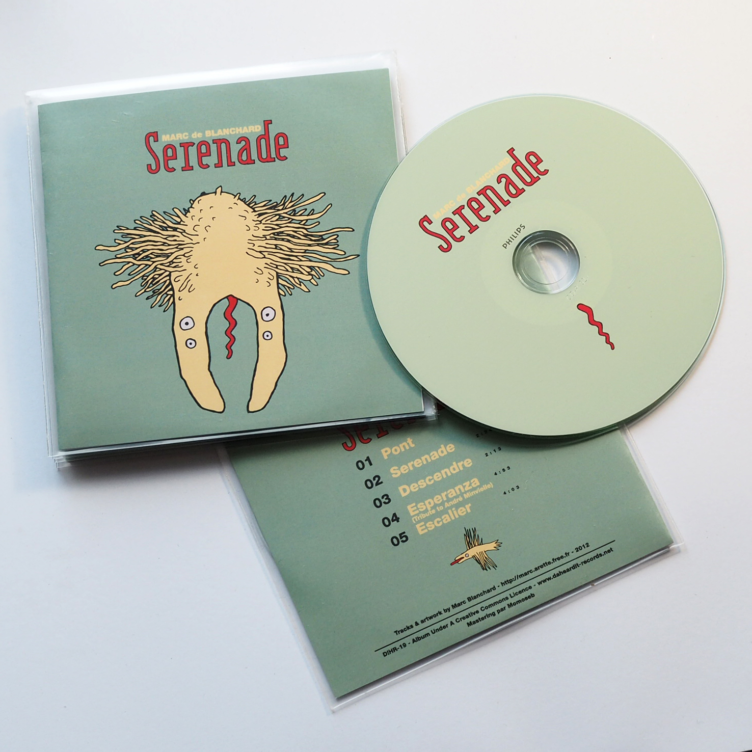 Marc de Blanchard - Graphisme - CD handmade DIY - Da Heard It Records