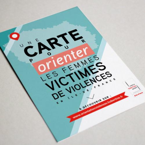 Centre Hubertine Auclert - Graphisme Flyer marc blanchard, rennes, bretagne