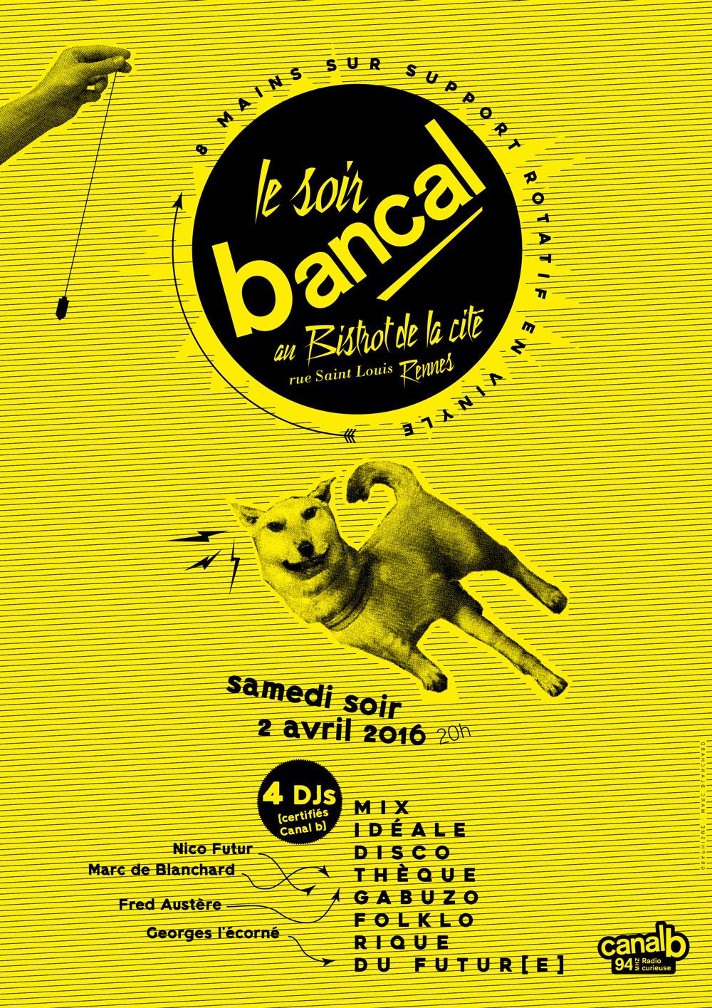 Le soir bancal - Canal B - Bistrot de la cité Rennes Bretagne France