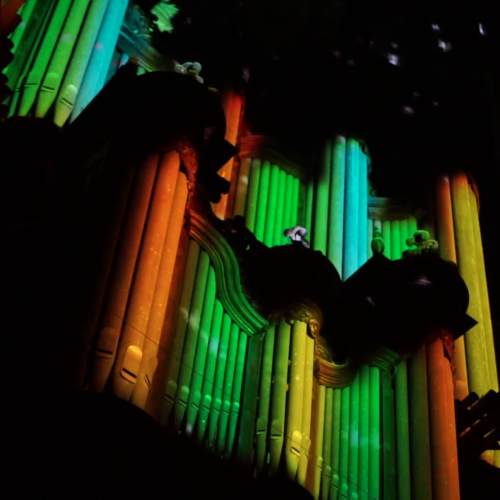 mapping vidéo orgue Abbatiale St Ouen